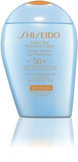 Shiseido Sun Care Expert Sun Protection Lotion WetForce SPF50+ For Sensitive Skin & Children crema solar resistente al agua SPF 50+