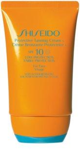 Shiseido Sun Care Protective Tanning Cream napozókrém arcra SPF 10