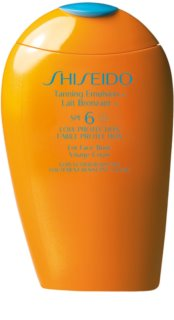 Shiseido Sun Care Tanning Emulsion Tanning Emulsion for Face and Body SPF 6