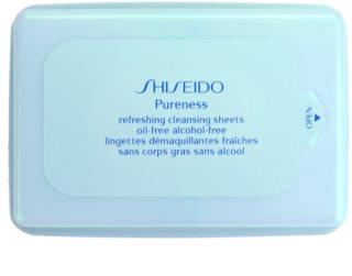 Shiseido Pureness odličovacie obrúsky pre hĺbkové čistenie
