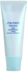 Shiseido Pureness tiefenreinigender Creme-Schaum mit Mikrogranulat
