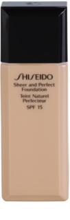 Shiseido Base Sheer and Perfect Liquid Foundation SPF 15