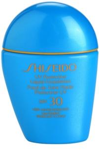 Shiseido Sun Foundation wasserfestes Flüssig-Make up SPF 30