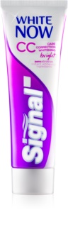 Signal White Now CC dentífrico de branqueamento para um cuidado completo