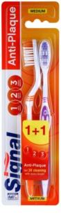 Signal Anti-Plaque Medium Tandenborstel  2st.