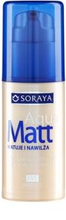 Soraya Aqua Matt podkład matujący  o dzłałaniu nawilżającym