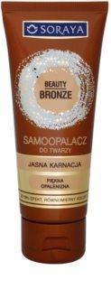 Soraya Beauty Bronze crema autobronceadora facial para pieles claras