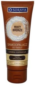 Soraya Beauty Bronze samoopaľovací krém na tvár pre tmavú pleť