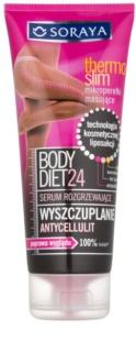 Soraya Body Diet 24 karcsúsító szérum cellulitisz ellen melegítő hatással