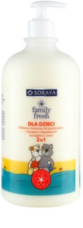 Soraya Family Fresh Shower Gel And Shampoo 2 In 1 For Kids