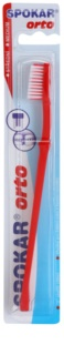 Spokar Orto Zahnbürste für die Benutzer fester Klammern Medium