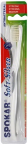 Spokar Soft-Silver antibakterielle Zahnbürste Medium