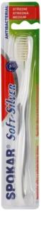 Spokar Soft-Silver antibakteriální zubní kartáček medium