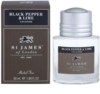 St. James Of London Black Pepper & Persian Lime kolínská voda pro muže 50 ml
