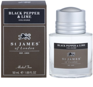 St. James Of London Black Pepper & Persian Lime Eau de Cologne para homens 50 ml