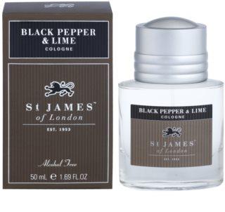 St. James Of London Black Pepper & Persian Lime Eau de Cologne voor Mannen 50 ml