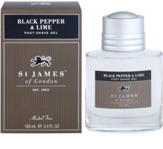 St. James Of London Black Pepper & Persian Lime гель після гоління для чоловіків 100 мл