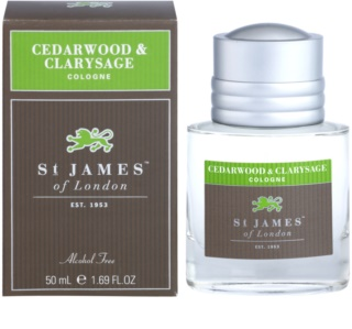 St. James Of London Cedarwood & Clarysage Eau de Cologne para homens 50 ml