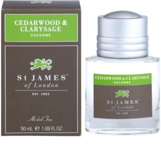 St. James Of London Cedarwood & Clarysage Eau de Cologne voor Mannen 50 ml