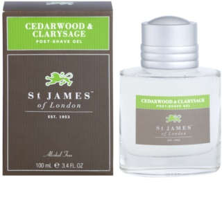 St. James Of London Cedarwood & Clarysage gel after shave para hombre 100 ml
