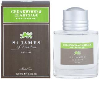 St. James Of London Cedarwood & Clarysage гель після гоління для чоловіків 100 мл