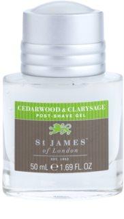St. James Of London Cedarwood & Clarysage gel after-shave pentru barbati 50 ml