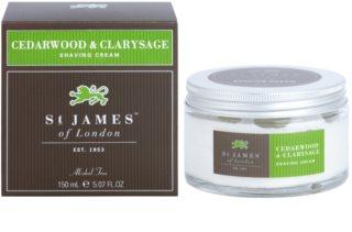 St. James Of London Cedarwood & Clarysage крем для гоління для чоловіків 150 мл