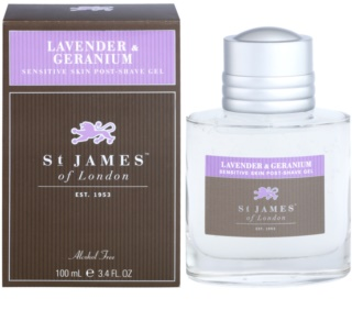 St. James Of London Lavender & Geranium gel après-rasage pour homme 100 ml
