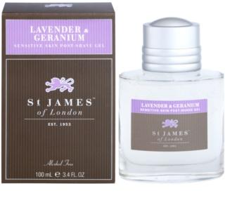St. James Of London Lavender & Geranium Aftershave gel  voor Mannen 100 ml