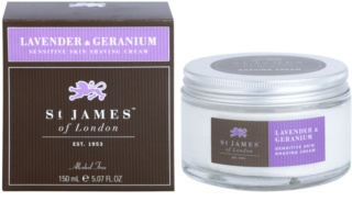 St. James Of London Lavender & Geranium krém na holení pro muže 150 ml