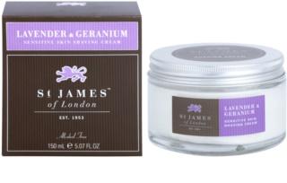 St. James Of London Lavender & Geranium крем для гоління для чоловіків 150 мл