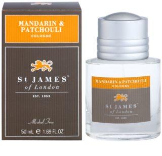 St. James Of London Mandarin & Patchouli Eau de Cologne voor Mannen 50 ml