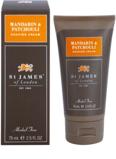 St. James Of London Mandarin & Patchouli creme de barbear para homens 75 ml formato de viagem