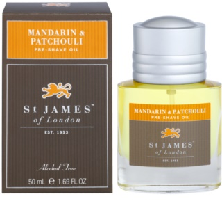 St. James Of London Mandarin & Patchouli óleo de barbear para homens 50 ml