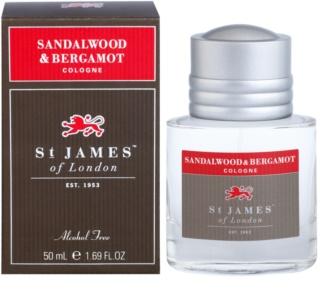 St. James Of London Sandalwood & Bergamot Eau de Cologne voor Mannen 50 ml