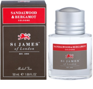 St. James Of London Sandalwood & Bergamot kolonjska voda za moške 50 ml