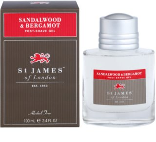 St. James Of London Sandalwood & Bergamot gel de barbear para homens 100 ml