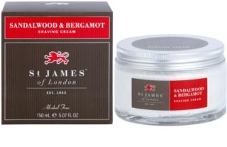 St. James Of London Sandalwood & Bergamot Shaving Cream for Men 150 ml