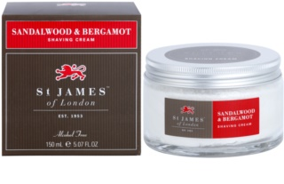St. James Of London Sandalwood & Bergamot creme de barbear para homens 150 ml