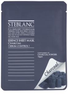 Steblanc Essence Sheet Mask Charcoal čistiaca maska pre mastnú pleť