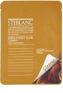 Steblanc Essence Sheet Mask Ginseng nährende und erneuernde Maske für das Gesicht