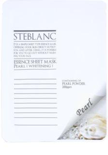 Steblanc Essence Sheet Mask Pearl rozjasňující a bělicí pleťová maska