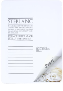 Steblanc Essence Sheet Mask Pearl máscara facial iluminadora e aclaradora