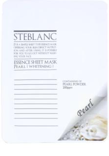 Steblanc Essence Sheet Mask Pearl rozjasňujúca a bieliaca pleťová maska