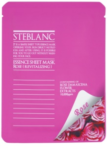 Steblanc Essence Sheet Mask Rose revitalisierende Gesichtsmaske