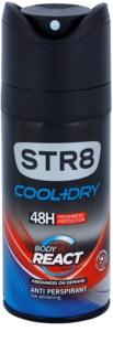 STR8 Cool & Dry Body React дезодорант за мъже 150 мл.