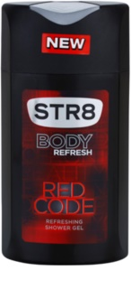 STR8 Red Code gel de ducha para hombre 250 ml