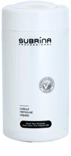 Subrina Professional Colour čistilni robčki za odstranjevanje barve za lase s kože