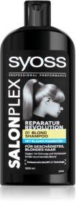 Syoss Salonplex champú para cabello decolorado y rubio