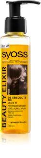Syoss Beauty Elixir ελαιώδης φροντίδα για κατεστραμμένα μαλλιά
